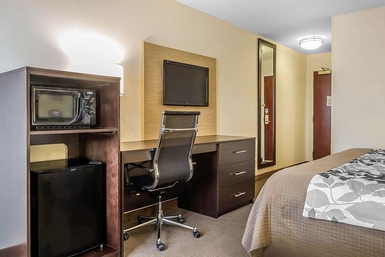 Sleep Inn and Suites Dothan: Guest room with flat-screen television
