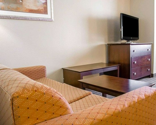 Comfort Suites Huntsville: Spacious room with flat-screen television