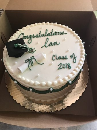 Cohoes, NY: Graduation cake. Carrot Cake with Cream Cheese Frosting