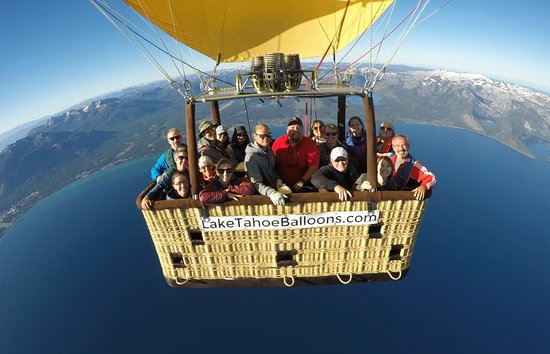 Lake Tahoe Balloons: that's me on the far right with the red jacket!