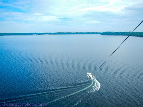 Parasailing in Sister Bay