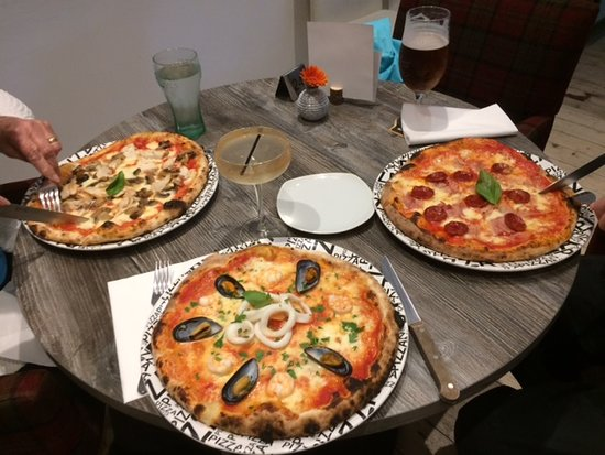 St. Boswells, UK: Delicious pizzas