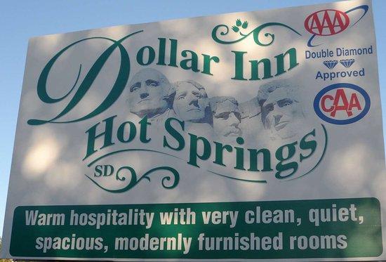 Dollar Inn Hot Springs: DollarInn HotSprings SD Sign