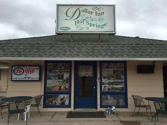Dollar Inn Hot Springs: DollarInn HotSprings SD OfficeEntrance