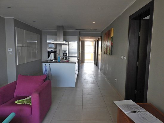 The Strand Curacao: View from living area to front door