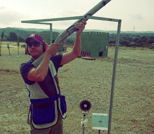 Colossus Shooting Ground: shooter calling an overhead clay