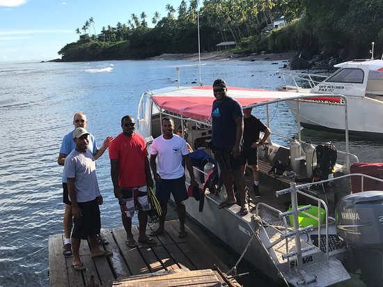 Taveuni Dive Resort: Dive masters & owner, boats & marina
