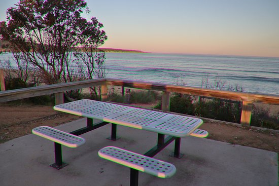 Eden, Australia: A picnic table