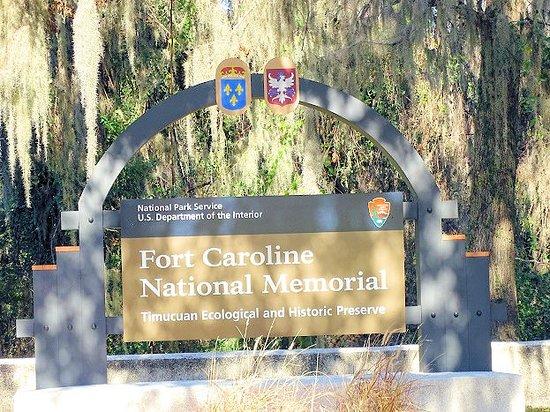 Fort Caroline National Memorial: entrance to park