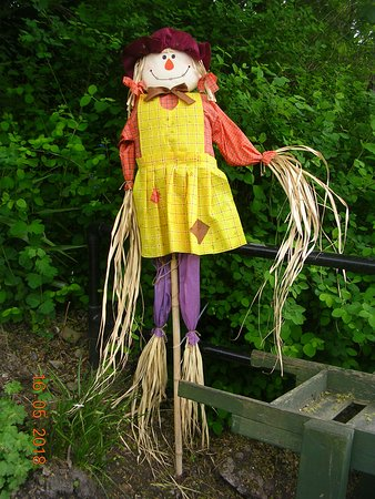 Smiling Scarecrow at Chirk Railway Station