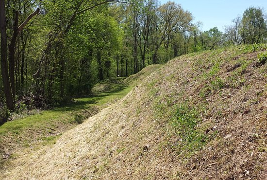 Henning, TN: The outer face of Fort Pillow