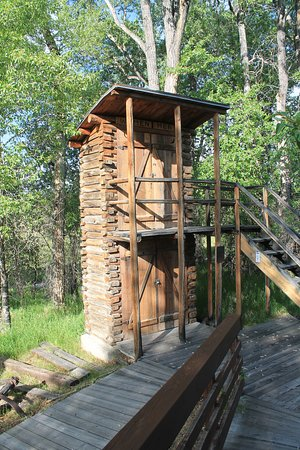 Grand Encampment Museum: outhouse