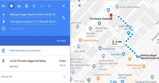The Desire Hostel: Map for Local Market