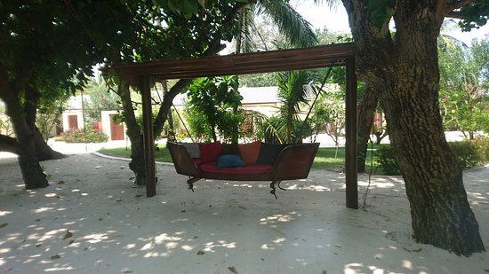 Peaceful seating in the grounds