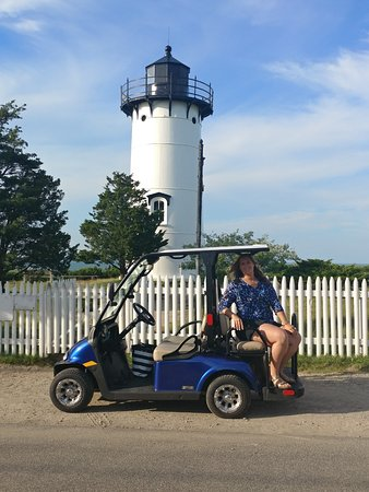East Chop Lighthouse: View from our two hour golf cart.