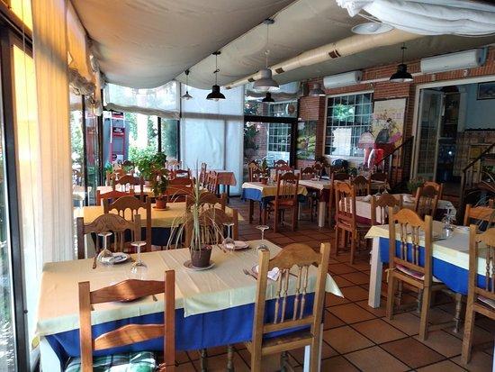 Villaviciosa de Odon, Spain: Exterior, terraza-salon y un muy buen solomillo.