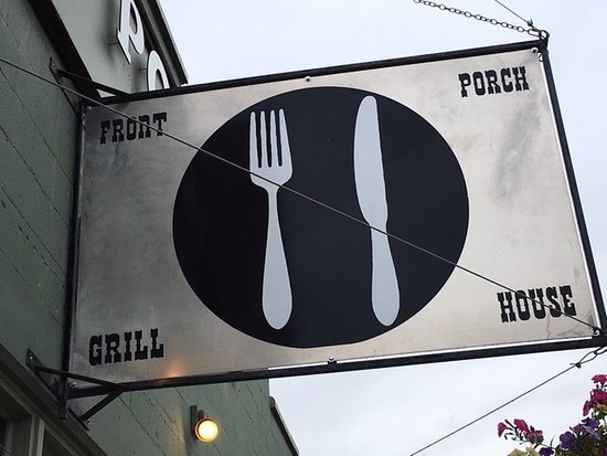Front Porch Grill House: Sign as seen from the sidewalk