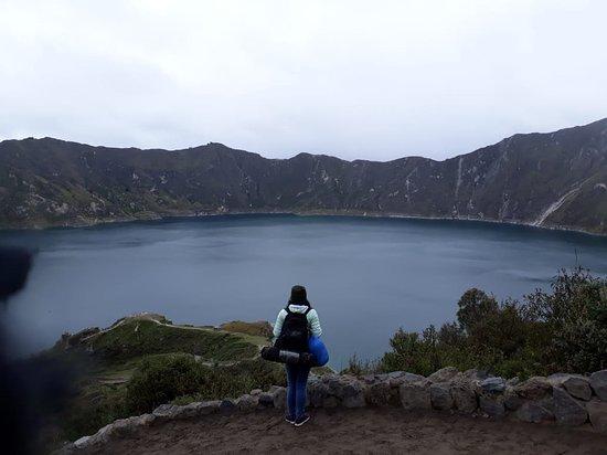 Quilotoa, Ecuador: En mi descenso por el sendero