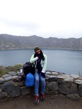 Quilotoa, Ecuador: Descansando un momento