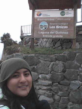 Quilotoa, Ισημερινός: En la entrada, lo mejor de todo es que es gratis :)