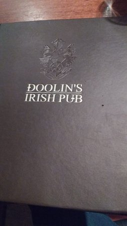 Doolin's Irish Pub: cardápio