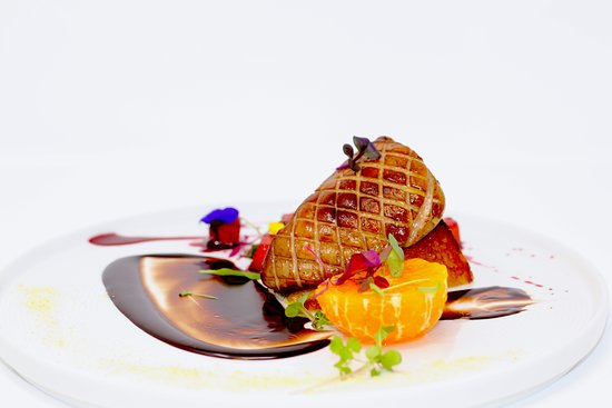 Americana Las Vegas: Roasted Hudson Valley Foie Gras ~ Pixie Tangerine ~ Spicy Chocolate