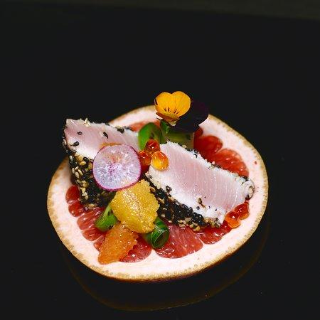 Americana Las Vegas: Kanpachi ~ Grapefruit ~ Sea Urchin