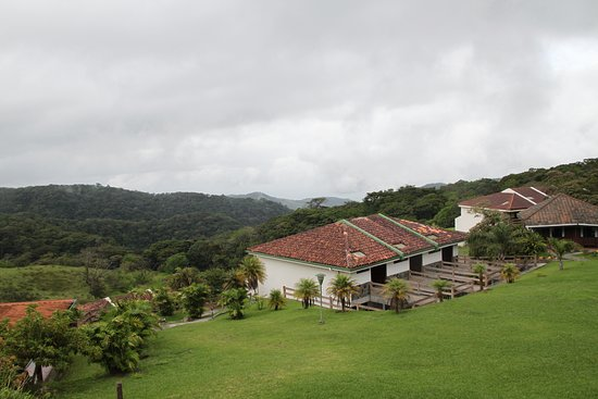 Hotel Montana Monteverde: View from bar of the buildings with the rooms