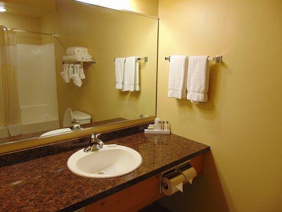 Arbuckle Lodge Gillette: Bathroom Room 334.