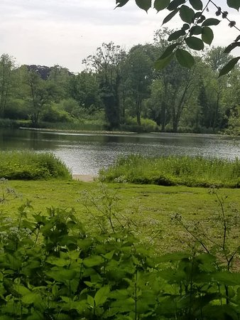 Renishaw Hall And Gardens: My first view of the lakes at Renishaw Hall