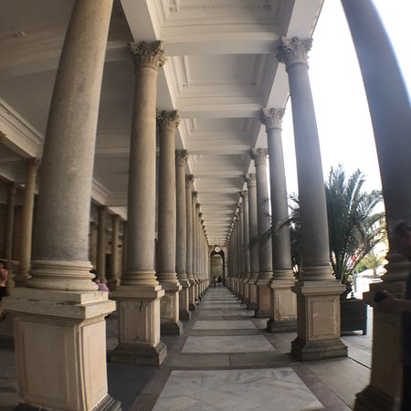 Market Colonnade: We can't go inside the Church St Mary Magdalene. But still enjoyed the walking..
