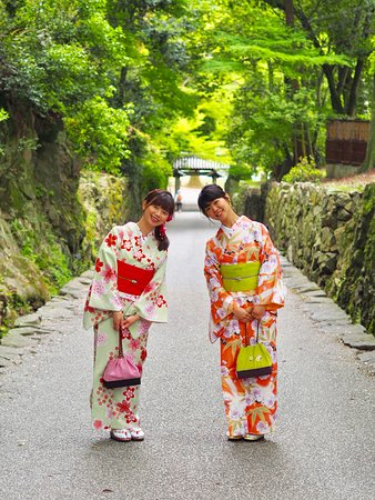 Kimono Rental Kyoto Aiwafuku Uji Byodoin: 興聖寺の琴坂にて