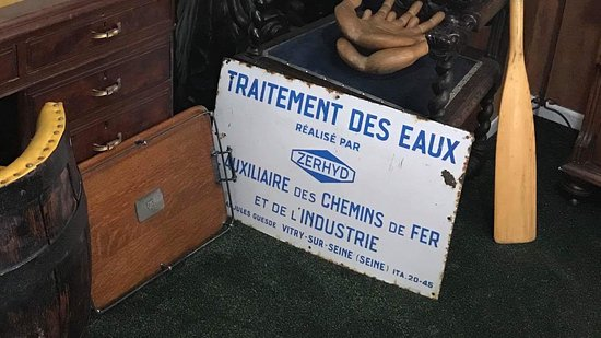 Abernethys Antiques and Curiosities: French water treatment sign £100
