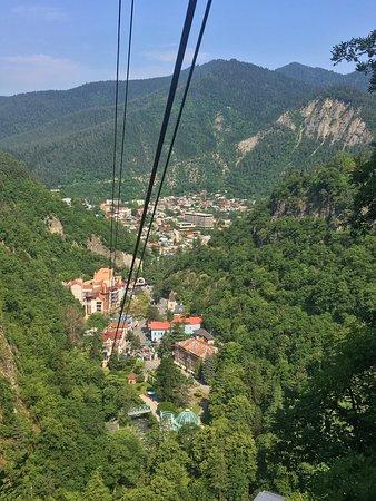 Borjomi Central Park: Borjomi from the Tram