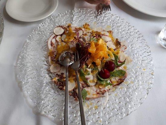 Restaurant Apetit: Carpaccio de pulpo