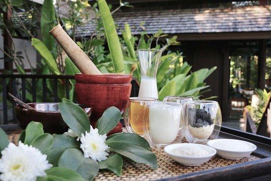 Anantara Spa by Anantara Layan Phuket Resort: Natural Body Scrub Ingredients