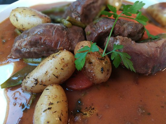 06232018 - Plat du Jour - Pork cheek with fine vegetables and thyme potatoes