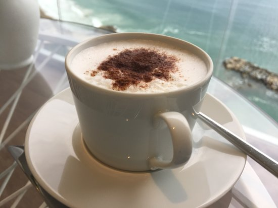 Grand Fiesta Americana Puerto Vallarta All Inclusive Adults Only: Cappuccino on the terrace in the Grand Club.