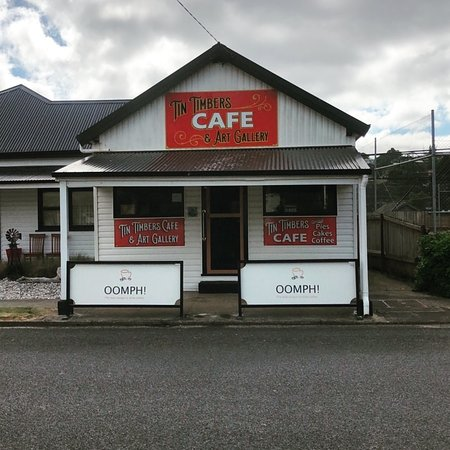 Tin Timbers Cafe: Great Tasmanian coffee a good place to stop and relax