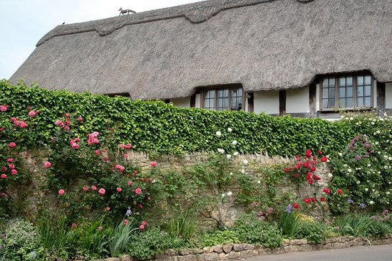 Stanton has several thatched roofs
