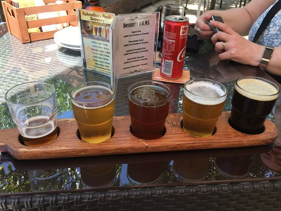 Aphrodite's Rock Brewing Company: Beer Paddle