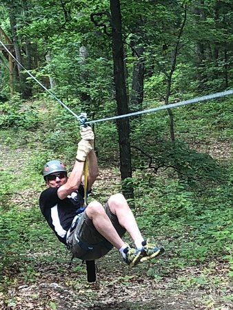 Eco Adventure Ziplines: Having fun