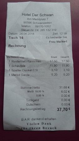 Schwanstetten, Almanya: Rechnung