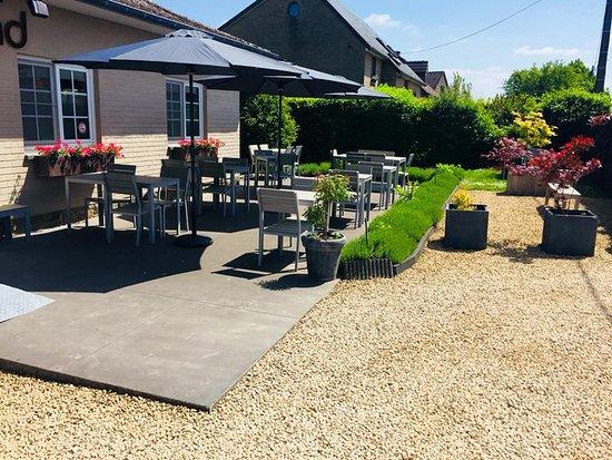 Natoye, Belgium: La terrasse