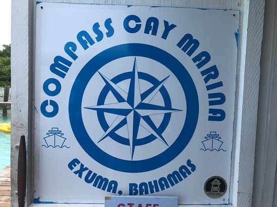 Compass Cay: Sign