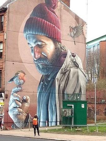 Mural de São Mungo próximo a Catedral de Glasgow