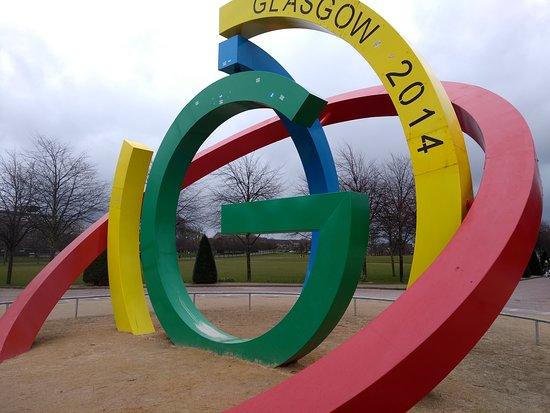 Glasgow, UK: Simbolo dos Jogos da Commonweath de 2014