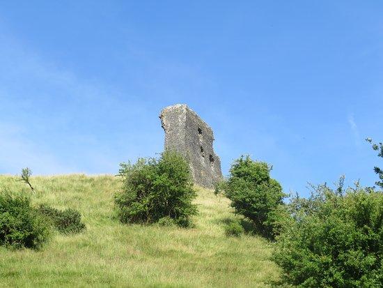 Dryslwyn Castle: View part way up the hill