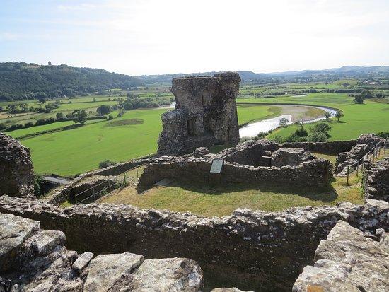 Dryslwyn Castle: Overlooking the river Tyfi