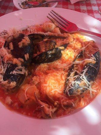 Hosteria Romana: Seafood risotto.